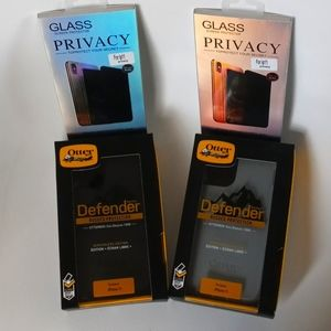 iphone 11 otterbox + privacy screen bundle